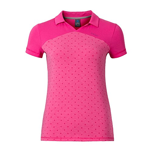 Odlo Polo Manches Courtes Shift S Vert - Rose