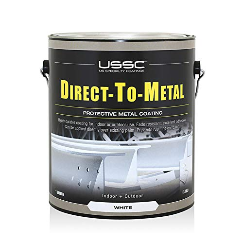 DTM Direct to Metal - High Performance, Satin Finish, Water Base Paint/Coating. Specifically formulated for Direct Application on All Metals. NO Need for Primer. Indoor/Outdoor use. (White)