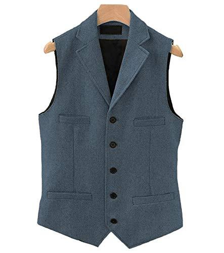 Heren pak Vest Wool Zakelijke Herringbone Taillejas voor Bruiloft