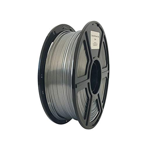 YANGDONG 1kg Seide-PLA-Thread, 1,75mm 3D-Drucker-Versorgungsmaterial, Seideglanz, Glatter Druck, Umweltfreundliches Ungiftiges Material (Color : Silk Silver)
