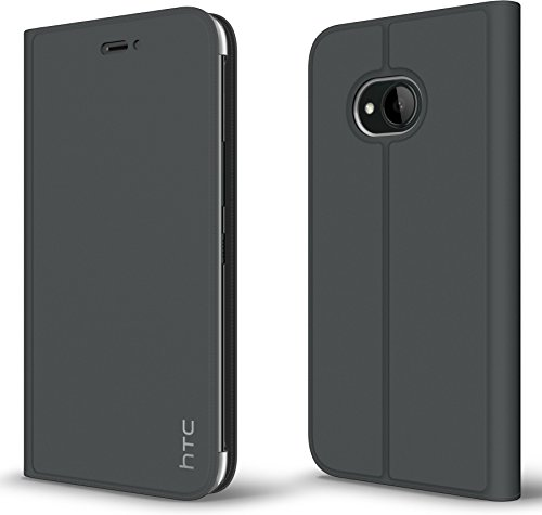 HTC 99H20441-00 U11 Life Leder Flip Tasche HC C1352 Dark Grau