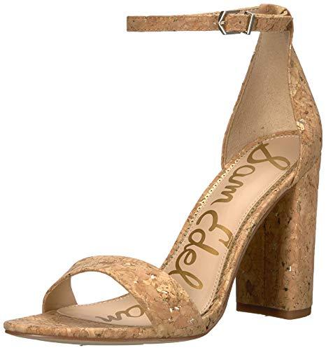 Sam Edelman Women's Yaro Heeled Sandal, Natural/Gold Cork, 10.5 M US