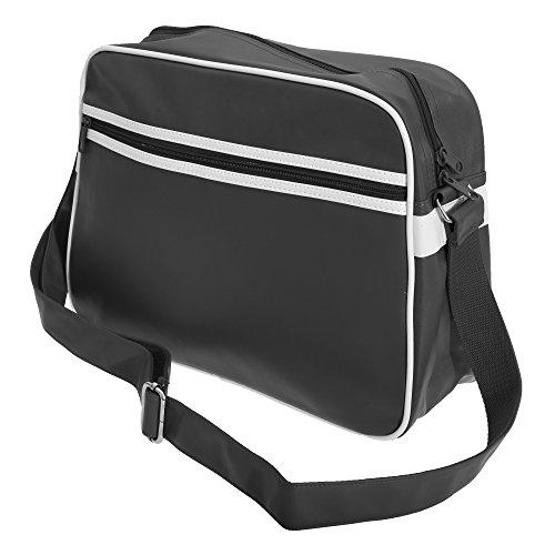 Bagbase - Mochila bandolera modelo Original Retro (Talla Única/Blanco/Negro)