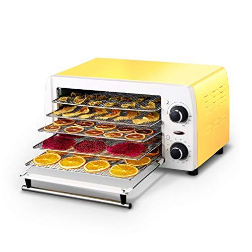 Dörrmachine-YUAN 5-laags instelbare digitale voedsel-droogmachine, Snack Jerky Maker, 38 °C ~ 78 °C, 10 L, 12 h, temperatuur- en tijdregeling