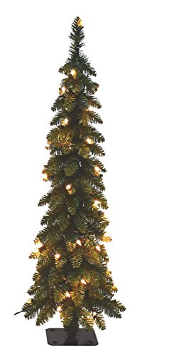 Santa's Workshop 15960 Pencil Slim Tree with 70 Ul Lights, 4' , CLEAR,Multi