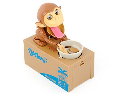 ds. distinctive style DSstyles Hungry Monkey Piggy Bank Geld Sparen Box Stealing Münze Munching Spielzeug, Kinder