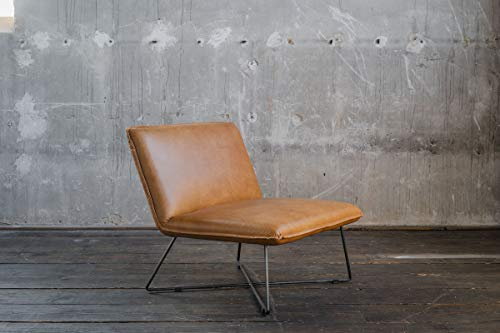 KAWOLA Sessel Willow Cocktailsessel Leder Cognac