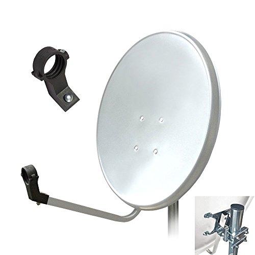 HD Digital Sat Anlage 60 cm Spiegel Antenne Schüssel 4K UHD Satellitenschüssel schüssel Spiegel ARLI weiss lichtgrau