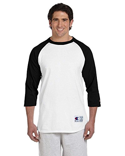 Champion- Camiseta de béisbol para hombre manga raglán. - Multi - Large