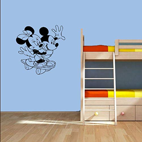Mickey Mouse Wandtattoo Mickey Mouse Minnie Mouse Vinyl Wandtattoo Sport Skateboard Mädchen Kinder Cartoons Baby Girl Boy