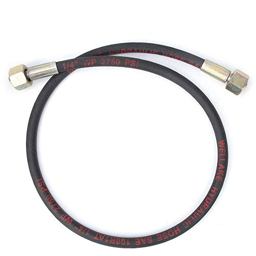 Tubo de manguera hidráulica Manguera de gas de alta presión de 1 m Rosca de conexión de 1/2 pulgada para argón/dióxido de carbono/oxígeno
