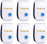 GADINO Ultrasonic Pest Repellent - Indoor Plug, Electronic and Ultrasound Repeller - Insects, Mice, Spiders, Mosquitoes, Ants, Rats, Roaches, Bugs Control - Eco Friendly Repellent (Pack of 6)