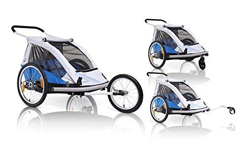 XLC Duo-BS-C02 2014 Fahrradanhänger blau/Silber 3092000400