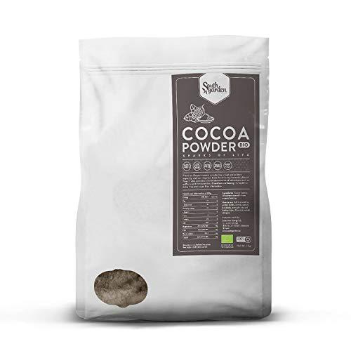 Kakaopulver BIO 1 Kg | SOUTH GARDEN | Roh | Vegan | Glutenfrei | Ohne Zucker | Antioxidativ und Aphrodisierend