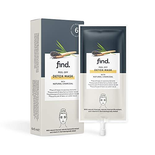 Marque Amazon - find. Masque au charbon détoxifiant - 6 paquets de 15 ml