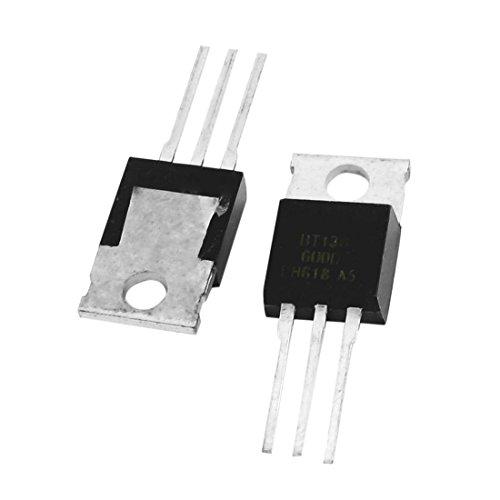 TOOGOO 2 Pzs BT136-600E 600V 4 Amp Transistor de silicio de velocidad de conmutacion alta