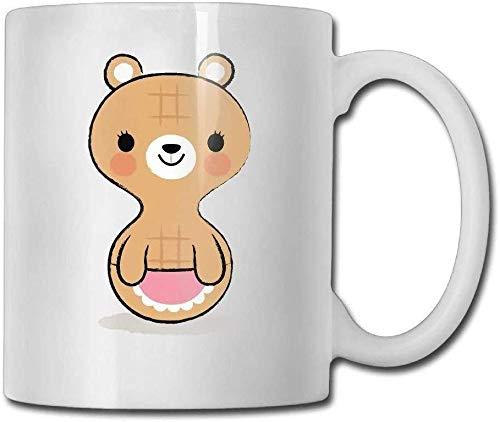 11 Unzen Kaffeetasse Keramik Tasse Geschenk niedliche Erdnuss Bär Special. Geburtstag Männer & Frauen, Mama, Papa, Schwester, Freund