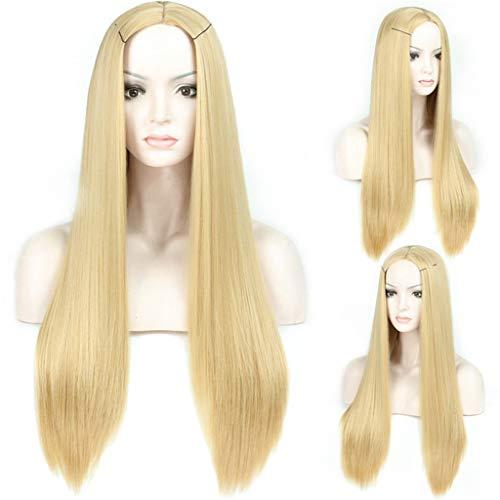 Levensechte Pruik mode dame lange rechte haar blonde pruik Comfortabel