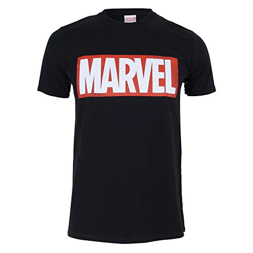 Marvel Comics-Core Logo-Mens, T-Shirt Homme, Noir,...