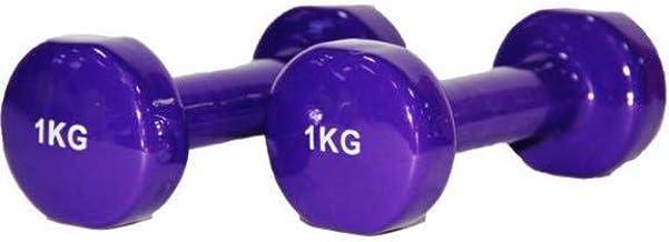 SPALL Rubber Dumbbell 1 Kg - Purple