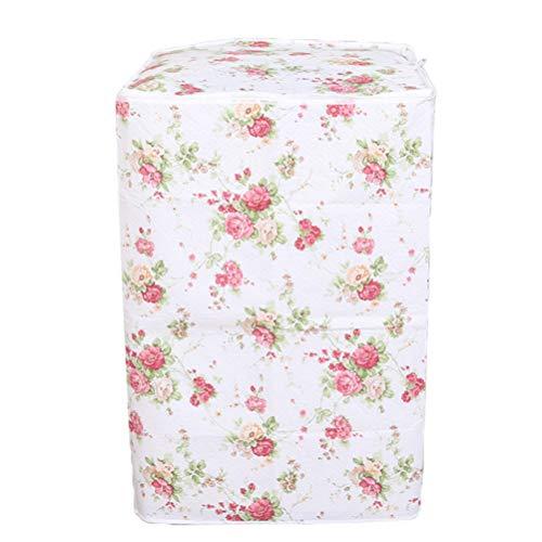 VOSAREA Washing Machine Cover Top Load Automatic Washer Dryer Cover Waterproof Dustproof Anti-Splash 55 x 58 x 87cm(Peony Flower Patterns)