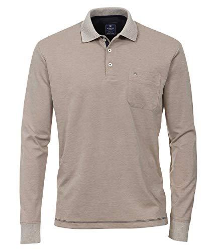Redmond Herren Polo-Shirt Langarm unifarben 57% Pima Cotton, 43% Polyester