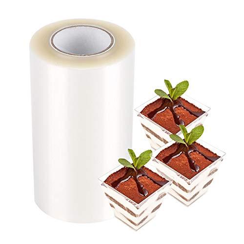 Collari trasparenti trasparenti per torta, fogli di acetato per cioccolato fai da te, mousse, cottura(8cm*10m)