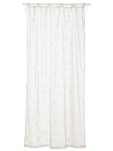 Vertbaudet Betthimmel-Vorhang für Kinder weiß/Gold getupft 105X180