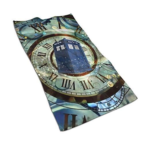 Hdadwy Doctor Dr Who Toalla de baño de microfibra para ratones Box (27,5 x 15,7 pulgadas), grande, suave, altamente absorbente y de secado rápido, no se decolora, se utiliza para deportes, viajes, fit