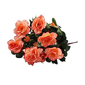 Silk Flower Arrangements Artificial and Dried Flower Household Outdoor Artificial Red Azalea Flowers Bushes Flowers Small Resistant UV Decorations Fake Home Decor W6N4 - ( Color: D )
