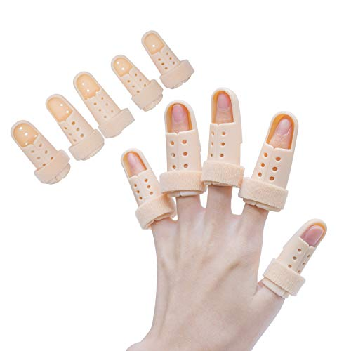 Finger Splint Brace, Mallet Finger Splints Pinky, Plastic Finger Protector Support for Arthritis Basketball ,5 Pcs Finger Immobilizer For Finger Joint Pain