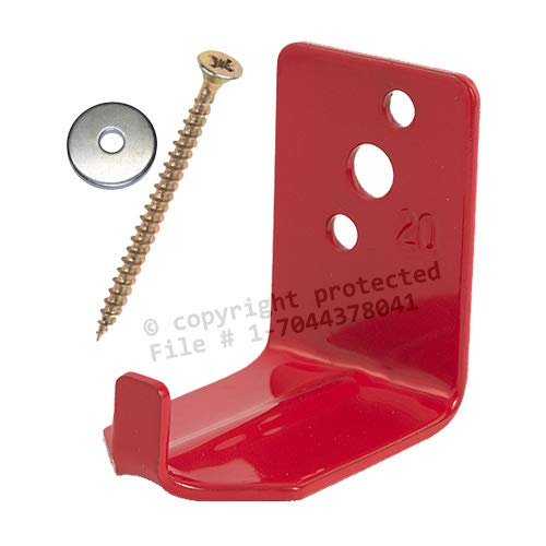 (Lot of 12) Universal Fire Extinguisher Wall Hook, Mount, Bracket, Hanger for 15 to 20 Lb. Extinguisher - (No Screws and Washers)