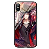 Clear Case for Coque iphone 7 / Coque iphone 7plus, Naruto-Kakashi Akatsuki-Anime Coque en Verre...