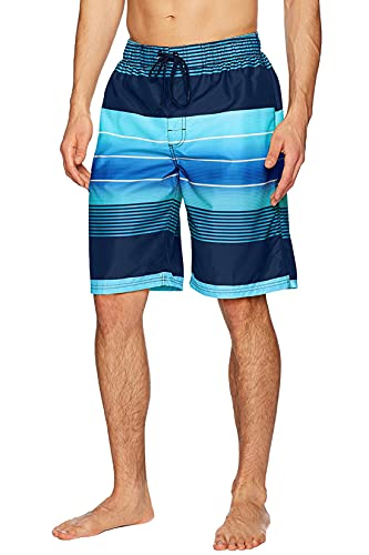 Kanu Surf Men's Standard Swim Trunks (Regular & Extended Sizes), Echelon Navy, Large
