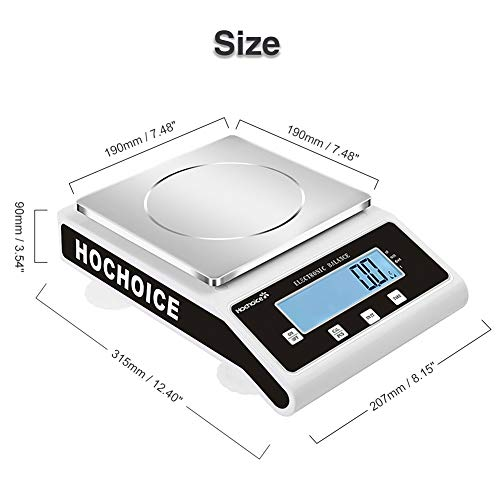 Hochoice High Precision Scale 15kg x 0.1g Digital Accurate Electronic Balance Lab Scale Laboratory Industrial Scale Weighing and Counting Scale Scientific Scale CE
