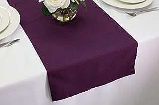 plum wedding table linens
