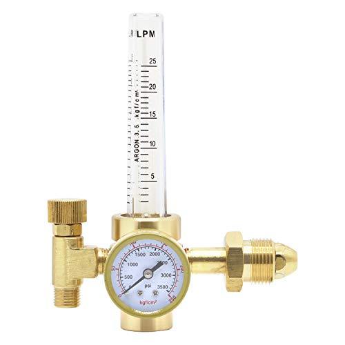 GESTONG Argon gas regulator Flowmeter 0-25lpm CGA-580 for TIG Welder Machine Full Copper Gas Values Welding Accessory
