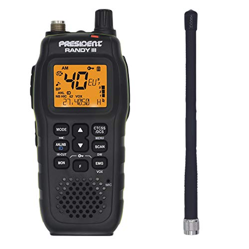 Président Randy-III Portatil Am/FM walkie CB 27 Bateria Litio 1800 mAh