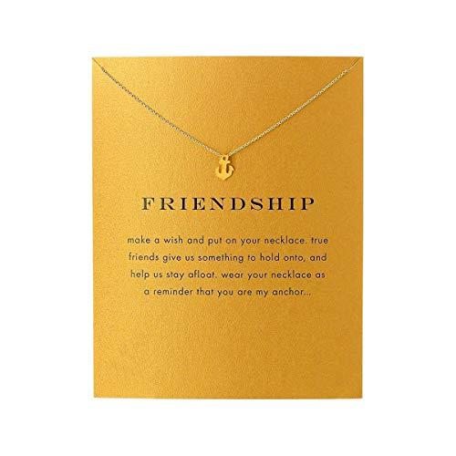 Friend Necklace Anchor Pendant Friendship Necklace (Anchor)
