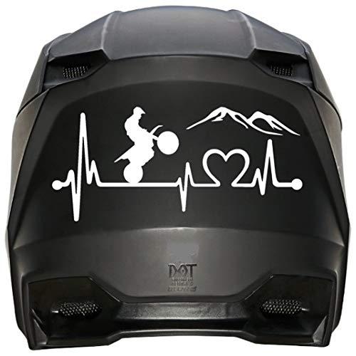 Calcomanía para motocicleta con latido del corazón para la ventana del coche, casco y vaso