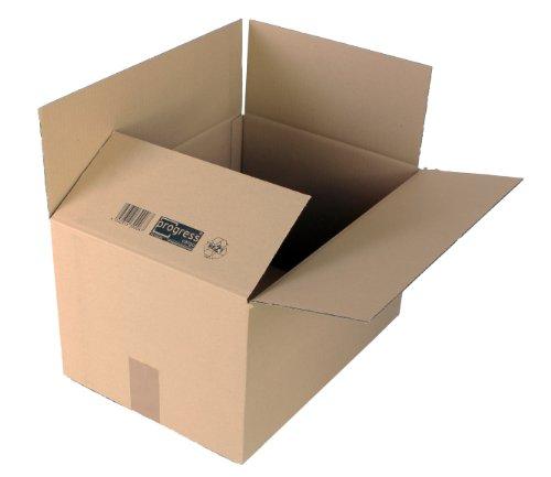 ProgressCargo PC K10.06 - Pack de 20 cajas de cartón, color marrón