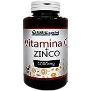 Vitamina C Pura 1000 mg Alto Dosaggio-Arancio amaro 100 mg + Zinco 10 mg, 180 Compresse per 6 Mesi, Vitamina C Dose Forte, Qualità Italiana