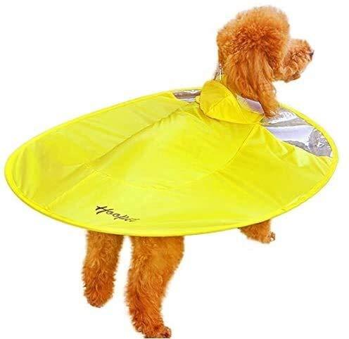 Pet hond doorzichtige regenjas UFO hond regenjas hond regenjas hond kleren regenachtige dag speciale blauwe gele regenjas
