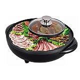 Elektrischer Hot Pot, Elektrischer Grill, 2-in-1, 5-Temperatur-Grill Hot Pot 1700W, 2 Fächer, 2...