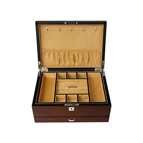 Cajas para joyas Caja de joyería retro caja de almacenamiento multilapa anillo pendiente collar...