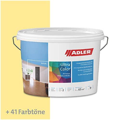 ADLER Ultra-Color Wandfarbe - Volltonfarbe und Abtönfarbe in 100+ Farbtönen - Hahnenfuß C12 023/4 Gelb 1 l Atmungsaktiv, Hochdeckend, Lösungsmittelfrei