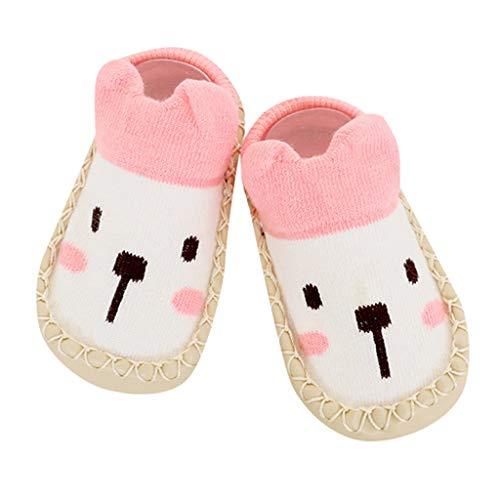 Sensail Chaussures pour bébé imprimé animal de bande dessinée chaussettes antidérapantes pour tout-petit, chaussettes à fond souple, chaussettes confortables pour enfants