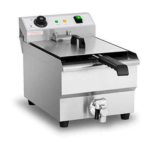 Royal Catering Freidora Eléctrica Profesional RCEF-13EHB (3.200 Watt, Temperatura: 60-200 °C, Con...