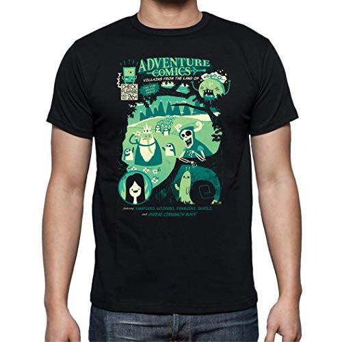 The Fan Tee Camiseta de Hombre Hora de Aventuras Jake Finn 006 4XL