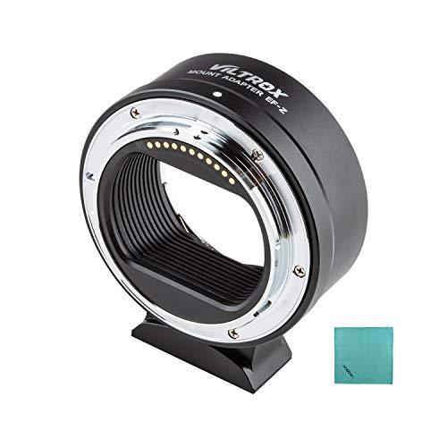Viltrox Anillo adaptador EF-Z para montaje de lente de enfoque automático compatible con objetivos Canon EF/EF-S para cámaras Nikon Z6/Z7/Z50